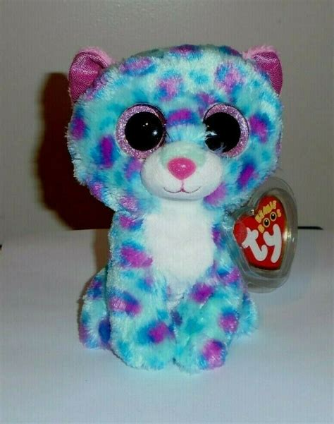 """Ty Beanie Boos - SYDNEY the 6"""" Claires Exclusive Leopard"""