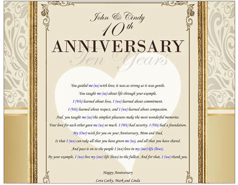 Poetry love best wishes anniversary gifts parents present