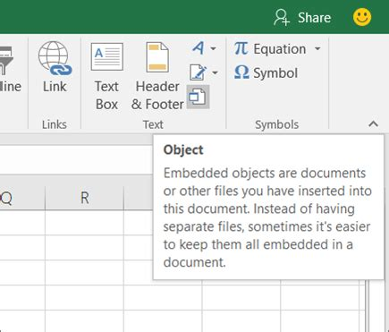 Insert an object in your Excel spreadsheet - Excel
