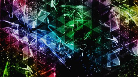 abstract, Colorful, Triangle, Shattered, Broken Glass