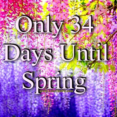 Only 34 Days Until Spring Pictures, Photos, and Images for