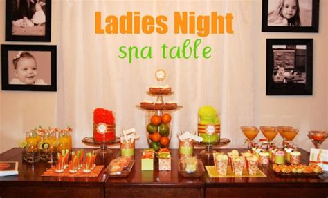 Ladies Night Spa Table (guest feature) - Celebrations at Home