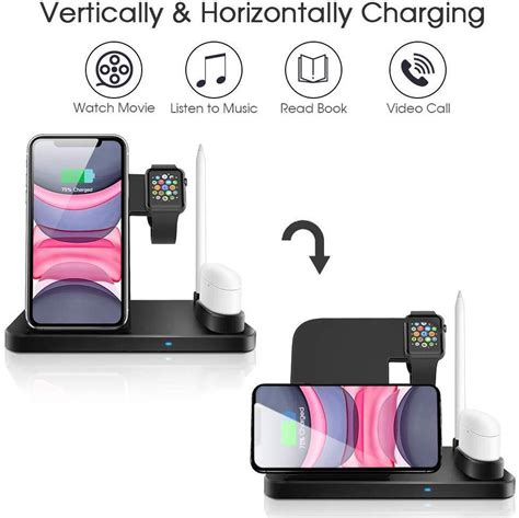 Seneo Wireless Charger, 3 in 1 Wireless Charging Station