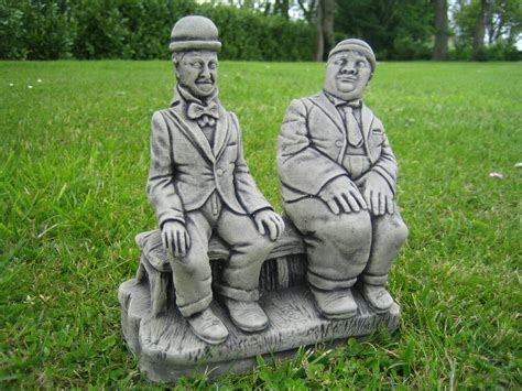 Laurel and Hardy stone garden ornament   Many more