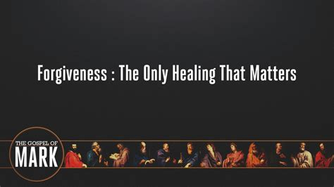 Covenant Church – Forgiveness: The Only Healing That