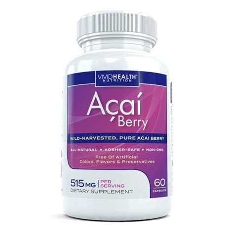 All Natural Acai Berry Extract Supplement - High in
