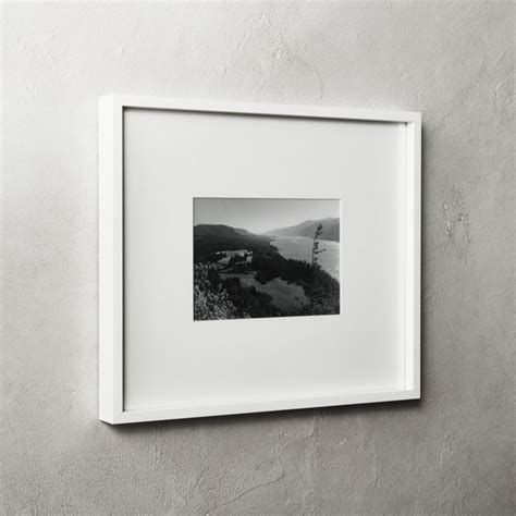 Gallery White Frame with White Mat 5x7 + Reviews   CB2