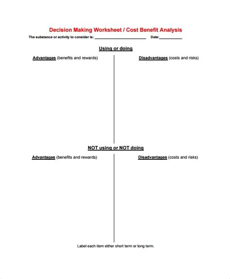FREE 10+ Sample Cost Benefit Analysis Templates in PDF