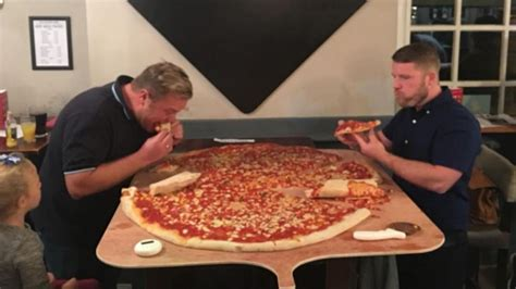 This pub is offering a ridiculous 40-inch pizza eating
