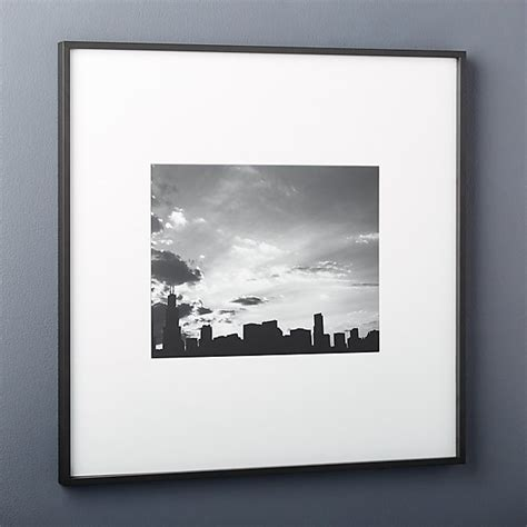 gallery black 11x14 picture frame   CB2